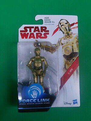 "New~STAR WARS THE LAST JEDI C-3PO 3.75"" FORCE LINK FIGURE FACTORY SEALED"