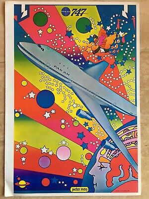 Vtg Peter Max Coach With The Six Insides Pope Swami Art Poster 1971 11x16