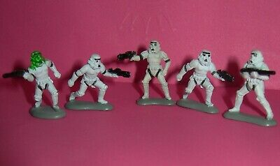 Star Wars Micro Machines Imperial Stormtroopers LOT 5 Army Trooper Galoob 1996