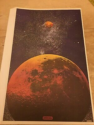 Flawed Vtg Peter Max Outer Space Elvis 🕺 Psychedelic Pop Art Poster 1971 11x16