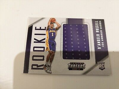 201516 Panini Threads D;Angelo Russell ''''''Rookie Jumbo Patch