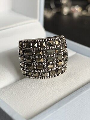 Pretty Sterling Silver Marcasite Ring