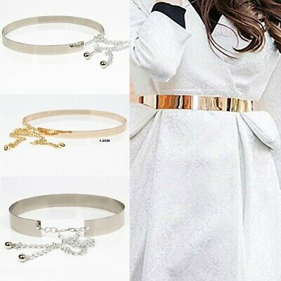 Waistband Plate Hot Chains Waist Vogue Metal Belt Mirror Wide Gold Band Lady Wzt