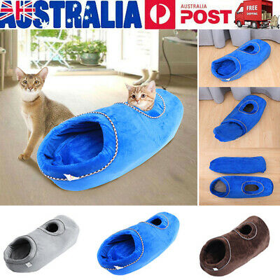 Pet House Kennel Soft Beds Cave Puppy Dog Cat Bed Doggy Warm Cushion Washable AU