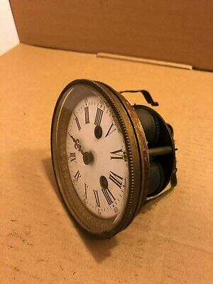 Vintage Clock Face Assembly / Mechanism With Glass Clock Face Cover - Parts Only