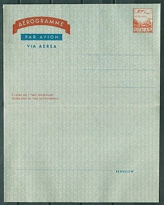Italy Old Aerogramme Air Letter 110L. Unused -Cag 270219