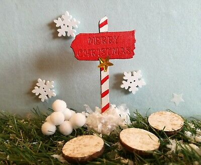 Elf props, accessories, merry christmas sign,  snowflakes,snowy stepping stones