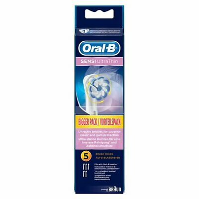 Braun Oral B Sensi Ultra Thin Replacement Tooth Brush Heads 5 Pack New & Sealed