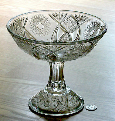 EAPG antique ISIS pattern OPEN COMPOTE McKee & Bros. #132 ~1894