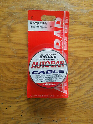 Autobar 561 Multi Purpose Electrical Cable 5 Amp 7m Blue Electrical Wire