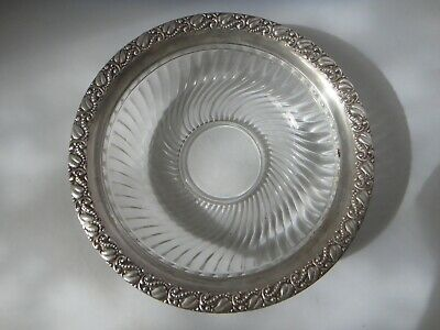 Stunning Sterling Silver Glass Bowl Webster Co.