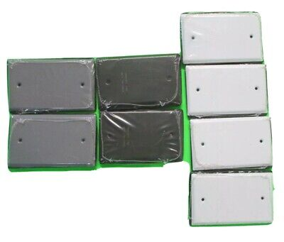 LOT OF 8 Sigma Outlet Box Cover Blank All Weather (4) White (2) Bronze (2) Gray