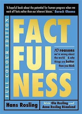 Factfulness (Illustrated) by Hans Rosling Hardcover Book Free Shipping!