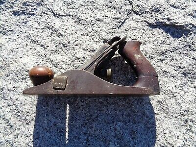 Vintage Antique Stanley Bailey No 4 Woodworking Wood Plane Tool Estate Find