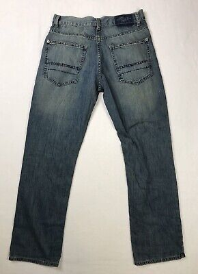 CALVIN KLEIN Jeans 31 x 32 Mens Relaxed Straight Fit Zip Fly Faded Medium Denim
