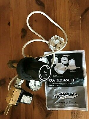 Hydrogarden Co2 Release Kit Pressure Regulator Pressure Solenoid Flow Gauge