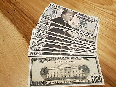 Pack Of 10 Donald Trump Re Election Presidential Novelty Bills