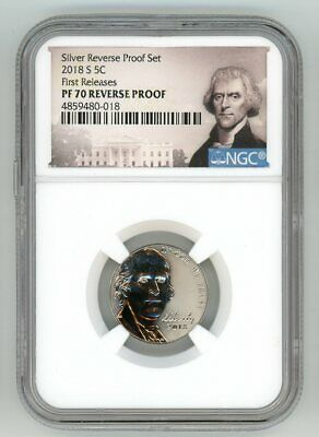 2019 Jefferson Nickel S 5c First 1st Day 10-Coin Clad Proof Set NGC PF70 UC