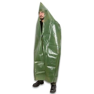 New East German army PVC poncho rain waterproof NVA DDR festival camping
