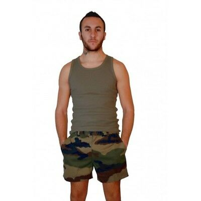 Vintage 1990s French army camo shorts military camouflage CCE woodland