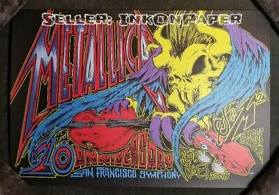 Metallica S&M2 9/6&8/19 San Francisco SE Poster by Squindo NO DAMAGE. SEE NOTES