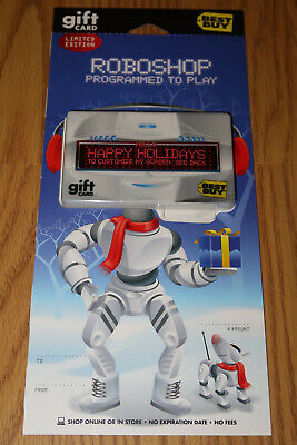 Best Buy Roboshop Programmable LED Display Gift Card - NO VALUE - RARE from 2007