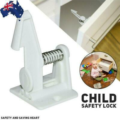 12X Baby Safety Cabinet Lock Invisible Child Kids Proof Cupboard Drawer Reliable