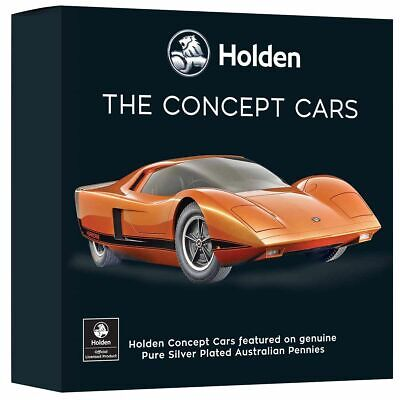 2019 Holden Concept Car Set Silver Plated Enamel Penny Collection 1969 MADE