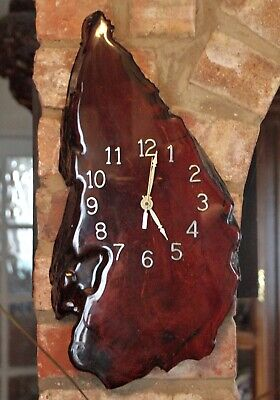 23,600 Year Old Swamp Kauri Wood Wall Clock, New Zealand, Moratti, Certificated