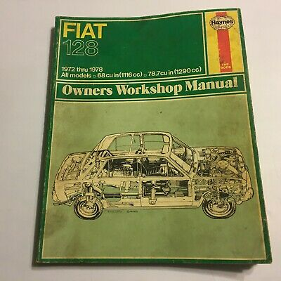 Fiat 128 USED Haynes Owners Workshop Manual All 1100 & 1300 models 1969 to 1974