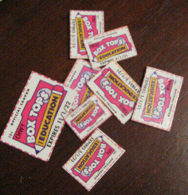 8 Box Tops for Education Neatly Trimmed None Expired BTFE Boxtops