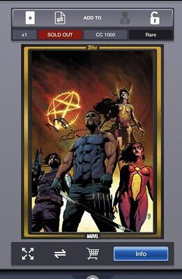 Topps Marvel Collect Strikeforce #1 GOLD Comic Book Day [DIGITAL CARD]