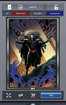 2019 COMIC BOOK DAY SEP 25 SILVER POWER OF X #15 Topps Marvel Collect Digital