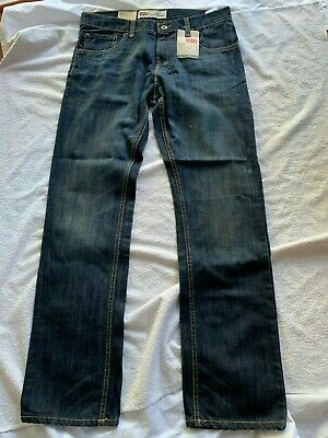 Levi's size 18 big boys teenage Mens 513 jeans Straight Leg Slim Fit bottom gift
