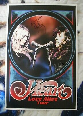 Ann and Nancy Wilson Heart Signed Love Alive Tour Poster