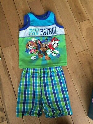 Toddler Boys 2 piece outfit, worn once, Paw Patrol vest and shorts Age 3