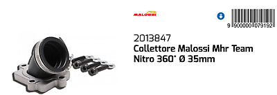Collettore Aspiraz 360° MHR Ø35 Malaguti Yesterday 50 1997 1998 1999 2000