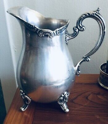 Vintage Towle Footed Silver Plated Water Pitcher