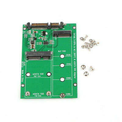 Cablecc Combo B/M-key M.2 NGFF & mSATA SSD to SATA 3.0 Adapter PCB for Laptop PC