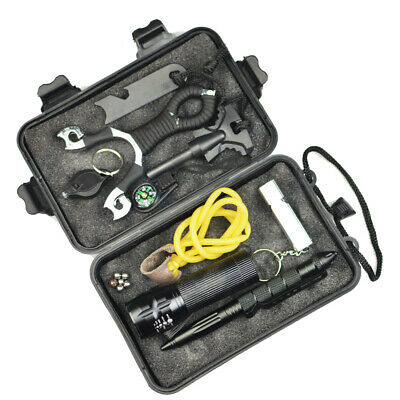SOS Outdoor Emergency Survival Equipment Kit Sports Tactical Camp Hiking Tool