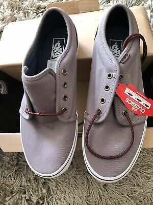 Mens Brown VANS Classic Plimsoll Trainers Size 9 UK (10 US)- New In Box