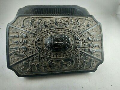 RARE ANCIENT EGYPTIAN ANTIQUE BOX with Scarab BC