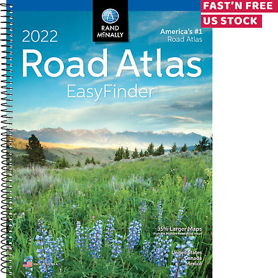 USA ROAD ATLAS Midsize Edition Spiral Bound United States Travel Map 2020 Update