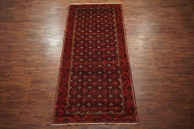 Antique 5X12 Baluchi Tribal Gallery Runner Hand-Knotted Abrash Wool (5.3 x 11.6)
