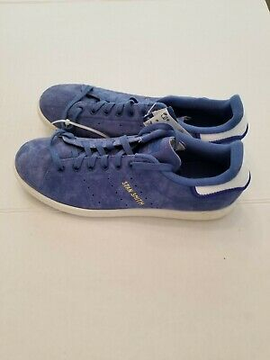 ADIDAS STAN SMITH Shoes Blue Suede White CQ2191 Mens US 10