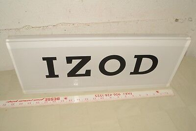 IZOD Store ADVERTISING Double Sided LUCITE Clothing Display SIGN Logo