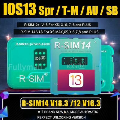 R-SIM14 V18.3 Nano Unlock RSIM Card for iPhone 6/7/8/X/XR/XS MAX/11 iOS13 Lot