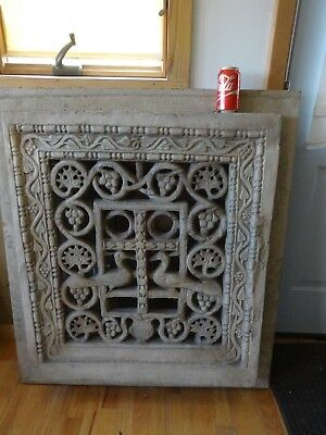 19th century Byzantine plaster Architecture grill made in ITALY, Newark Museum