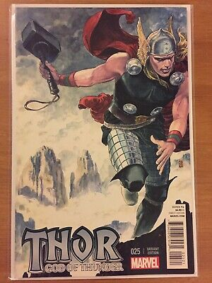 Thor God Of Thunder 25 VF/NM Manara variant See Pics 1st Jane Foster as Thor