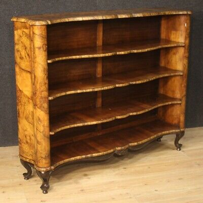 Bookcase Furniture Shelf Wooden Nut Library Etagere Antique Style Showcase